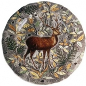 Rambouillet Round Flat Dish Stag