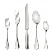 Christofle Perles Sterling Silver 5- Piece Place Setting