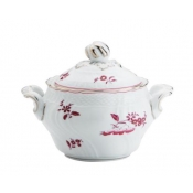 Galli Magenta Sugar Bowl - Oval & Cover / 12 cup  - Import Item