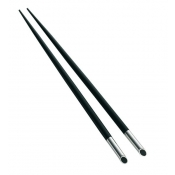 Christofle Galet Japanese Chopsticks - 2 Pairs with Rests