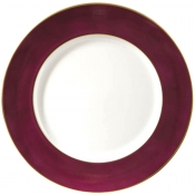 Richard Ginori Charger - Purple Rim - Gold