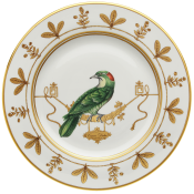 Voliere Coucou Didrie - Service Plate - 12.25""