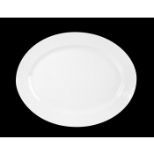Provence White Diamond Large Oval Platter