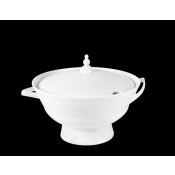 Provence White Diamond Large Soup Tureen
