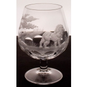 Varga Safari Brandy Snifter Lion