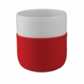 Fluted Contrast Mug - Scarlet Red