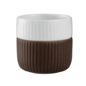 Fluted Contrast Espresso Mug - Chocolate