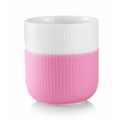 Fluted Contrast Mug - Bubble Gum