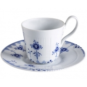 Blue Elements Cup & Saucer - High Handle