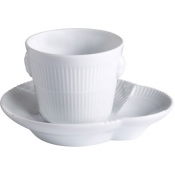 White Elements Espresso Cup & Saucer / Special Order