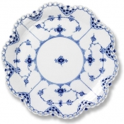 Blue Fluted Full Lace Dish - 9.75""