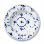 Blue Fluted Full Lace Soup Plate - 9""