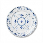 Blue Fluted Full Lace Bread & Butter Plate - 6.75""