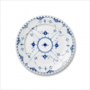 Blue Fluted Full Lace Salad/Dessert Plate - 7.5""