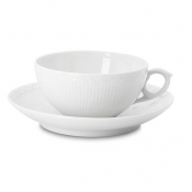 White Half Lace Tea Cup & Saucer