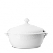 "White Fluted Half Lace Oval Soup Tureen 10.5 "" /Special Order"