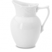White Fluted Half Lace Cream Jug