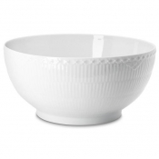 White Half Lace Large Salad Bowl - 9.5""