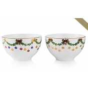 Star Fluted Christmas Chocolate Bowls - Set 2