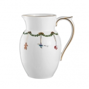 Star Fluted Christmas Pitcher - 1.5 pt.