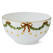 Star Fluted Christmas Serving Bowl - 8""