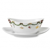 Star Fluted Christmas Sauce Boat
