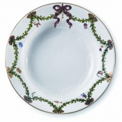 Star Fluted Christmas Soup Plate - 8.25""