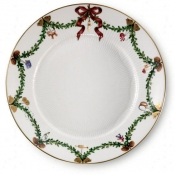 Star Fluted Christmas Salad Plate - 8.75""