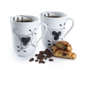 Black Fluted Mega Mugs -2 Pack / 11 oz.