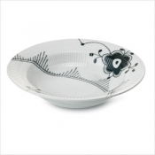 Black Fluted Mega Soup Plate - 8.25""