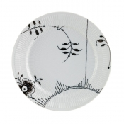 Black Fluted Mega Lunch/Dessert Plate No 2 - 8.75""