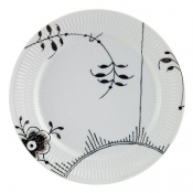 Black Fluted Mega Dinner Plate / No 2 - 10.75""