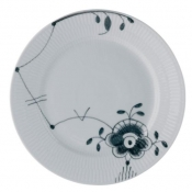 Black Fluted Mega Dinner Plate /No 6 - 10.75""