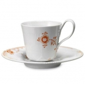 Elements Cup and Saucer /Tangerine - 8.5 oz  / Special Order