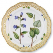Flora Danica Plate w/ Perforated Border -  11.5""