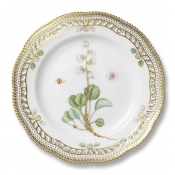 Flora Danica Perforated Border Luncheon Plate -  9.75""