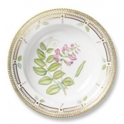 Flora Danica Rim Soup w/ Perforated Border - 9.5""