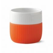 Fluted Contrast Espresso Mug - Poppy Red
