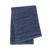 Sferra Orino Throw - Navy / Cornflower