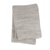 Sferra Orino Throw - White / Taupe