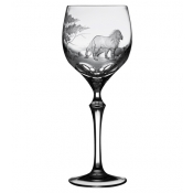 Varga Safari Wine Glass Lion