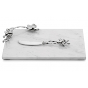 Michael Aram White Orchid Small Cheese Board w/ Knife