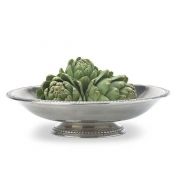 Match Pewter Beaded Rim Footed Bowl
