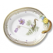 Flora Danica Medium Oval Accent Dish with Handle