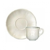 Pont Aux Choux White Espresso Cup and Saucer