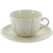 Pont Aux Choux White Breakfast Cup and Saucer