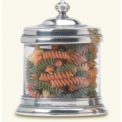 Match Pewter Glass Cannister- Small