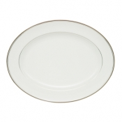 Kilbarry Platinum Oval Platter - 15.25""