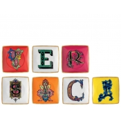 Versace Christmas Holiday Alphabet Set of 7 Dishes