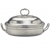 Match Pewter Toscana Round Pyrex Casserole Dish w/Lid